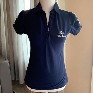 Burberry London Navy Blue Polo shirt